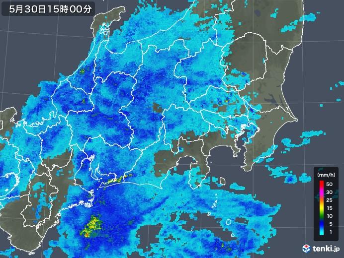 関東・甲信地方の雨雲レーダー(2018年05月30日)