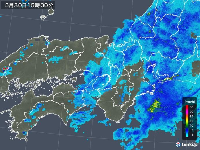 近畿地方の雨雲レーダー(2018年05月30日)