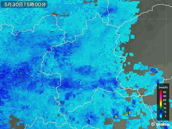 群馬県の雨雲レーダー(2018年05月30日)