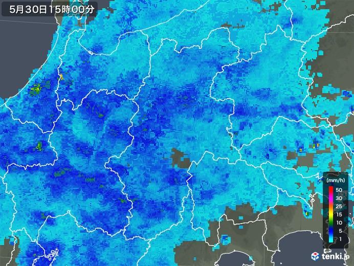 長野県の雨雲レーダー(2018年05月30日)