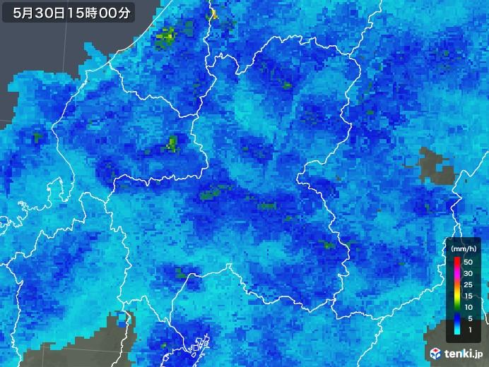 岐阜県の雨雲レーダー(2018年05月30日)