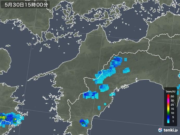 愛媛県の雨雲レーダー(2018年05月30日)
