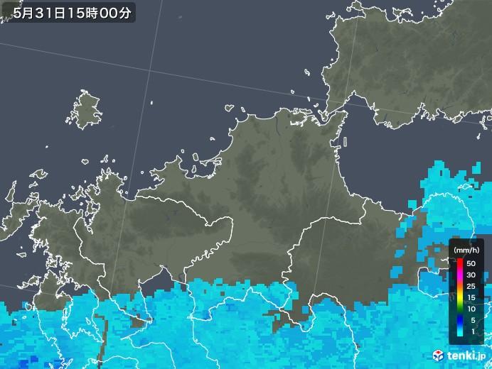 福岡県の雨雲レーダー(2018年05月31日)