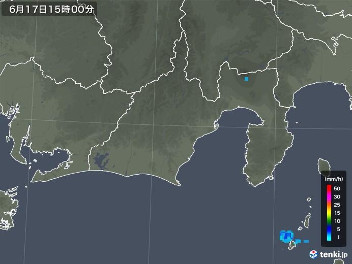 静岡県の雨雲レーダー(2018年06月17日)