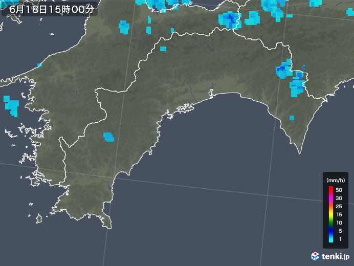 高知県の雨雲レーダー(2018年06月18日)