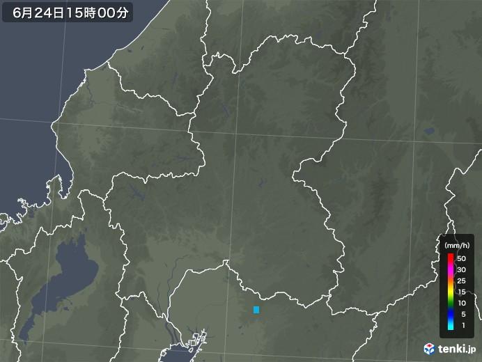 岐阜県の雨雲レーダー(2018年06月24日)