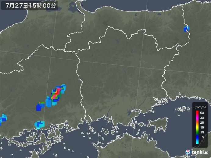 岡山県の雨雲レーダー(2018年07月27日)