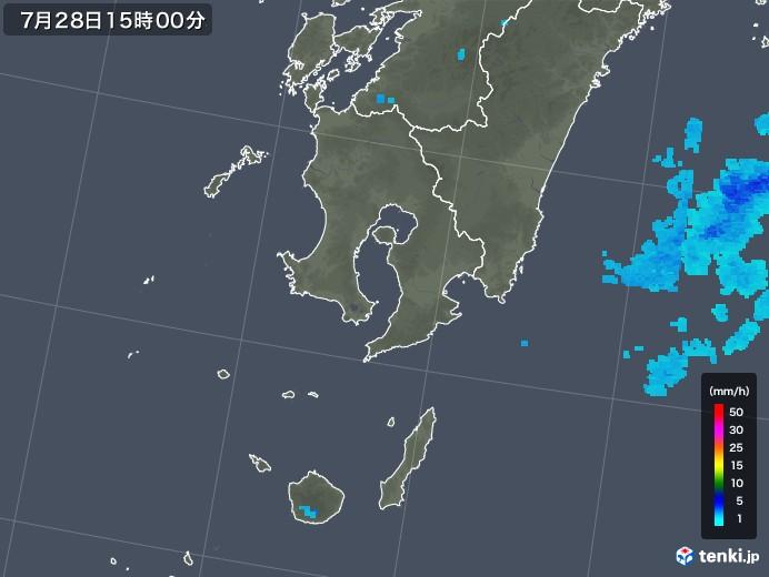 鹿児島県の雨雲レーダー(2018年07月28日)