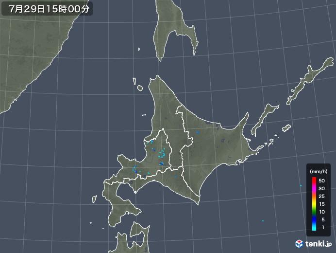 北海道地方の雨雲レーダー(2018年07月29日)