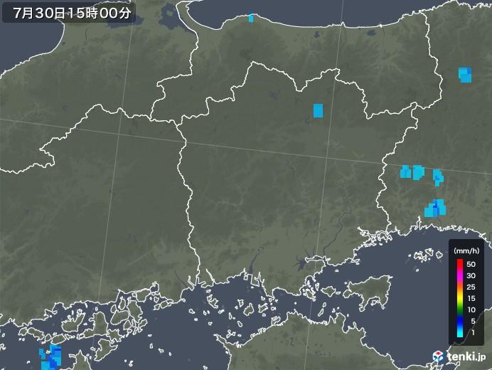 岡山県の雨雲レーダー(2018年07月30日)