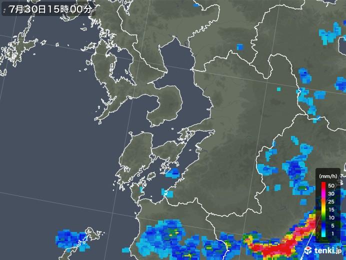 熊本県の雨雲レーダー(2018年07月30日)