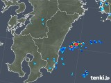 2018年08月13日の宮崎県の雨雲の動き