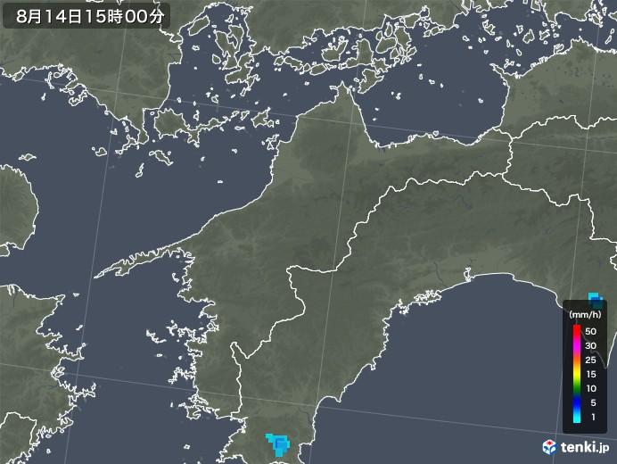愛媛県の雨雲レーダー(2018年08月14日)