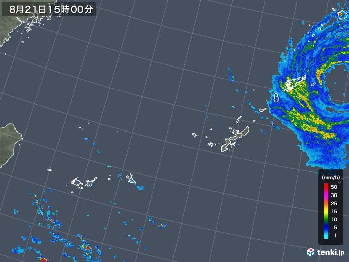 沖縄地方の雨雲レーダー(2018年08月21日)