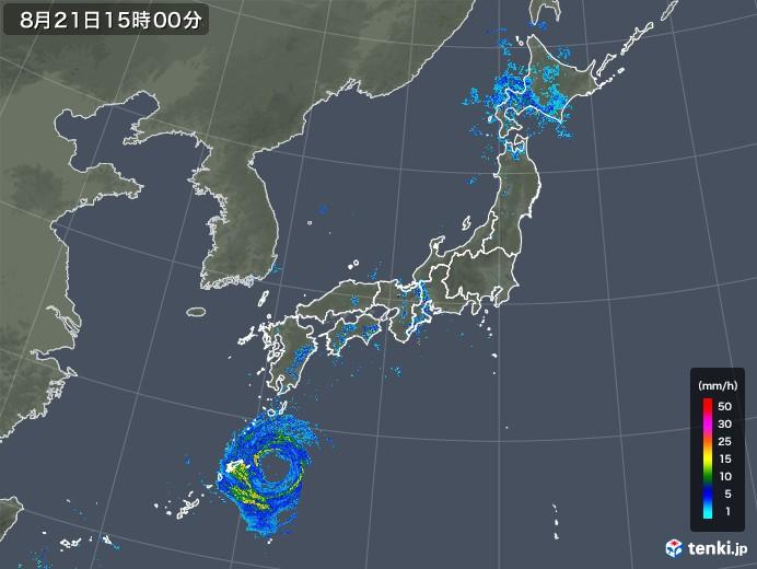 雨雲レーダー(2018年08月21日)