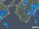 2018年08月21日の和歌山県の雨雲の動き