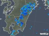 2018年08月21日の宮崎県の雨雲の動き