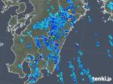 2018年08月22日の宮崎県の雨雲の動き