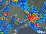 2018年08月23日の愛知県の雨雲の動き