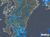 2018年08月23日の宮崎県の雨雲の動き