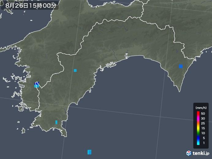 高知県の雨雲レーダー(2018年08月26日)