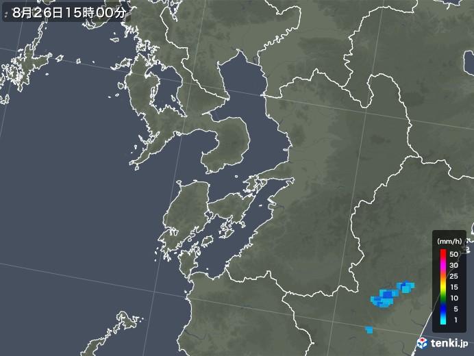 熊本県の雨雲レーダー(2018年08月26日)