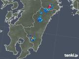 2018年08月28日の宮崎県の雨雲の動き