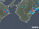 2018年08月29日の和歌山県の雨雲の動き