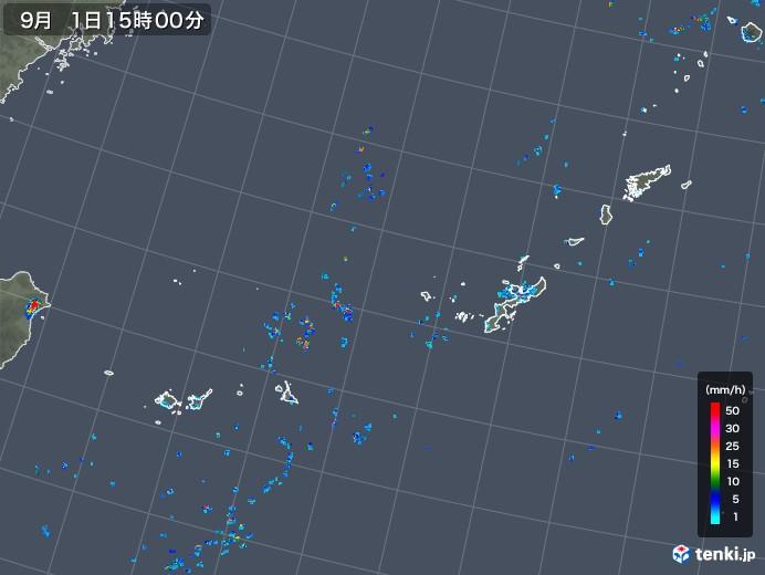 沖縄地方の雨雲レーダー(2018年09月01日)