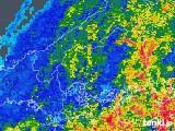 2018年09月30日の広島県の雨雲の動き