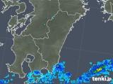 2018年10月03日の宮崎県の雨雲の動き