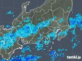 2018年10月04日の関東・甲信地方の雨雲の動き
