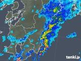 2018年10月04日の宮崎県の雨雲の動き
