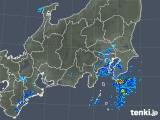 2018年10月05日の関東・甲信地方の雨雲の動き