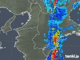 2018年10月06日の奈良県の雨雲レーダー