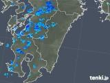 2018年10月06日の宮崎県の雨雲の動き