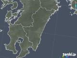 2018年10月08日の宮崎県の雨雲の動き