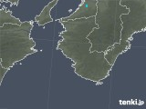 2018年10月09日の和歌山県の雨雲の動き