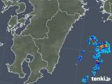 2018年10月09日の宮崎県の雨雲の動き