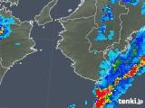 2018年10月10日の和歌山県の雨雲の動き