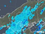 2018年10月10日の広島県の雨雲の動き