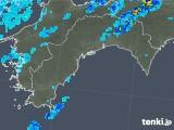 2018年10月10日の高知県の雨雲の動き