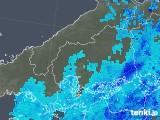 2018年10月11日の広島県の雨雲の動き