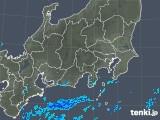2018年10月13日の関東・甲信地方の雨雲の動き