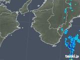 2018年10月13日の和歌山県の雨雲の動き