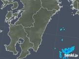 2018年10月14日の宮崎県の雨雲の動き