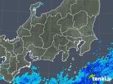 2018年10月16日の関東・甲信地方の雨雲の動き