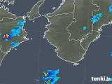 2018年10月18日の和歌山県の雨雲の動き