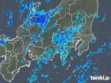 2018年10月19日の関東・甲信地方の雨雲の動き