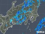 2018年10月20日の関東・甲信地方の雨雲の動き
